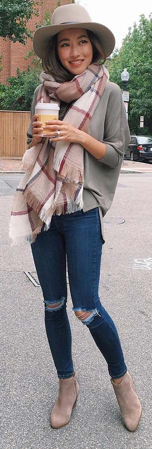Accessorized Fall Outfit Idee