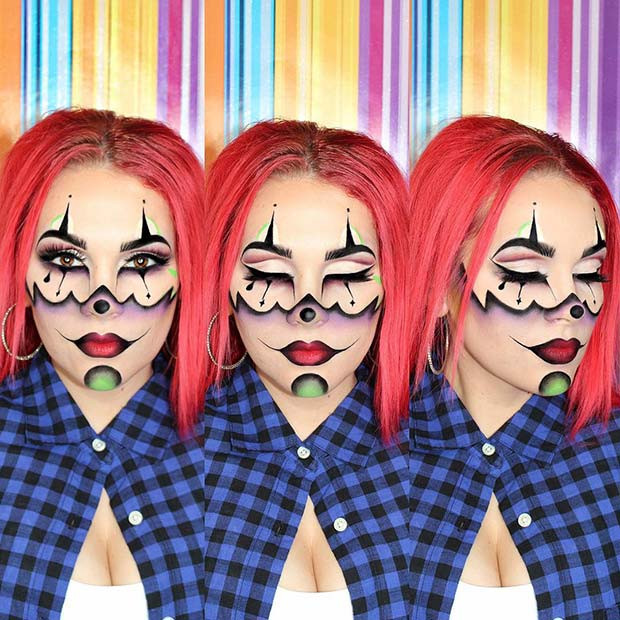 Einzigartiges Gangster-Clown-Makeup