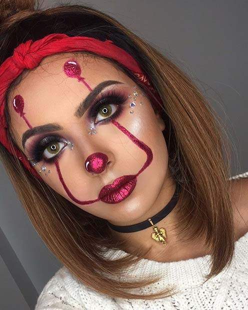 Es inspirierte Make-up mit Ballons