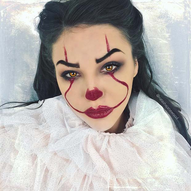 Einfache IT-Clown-Makeup-Idee