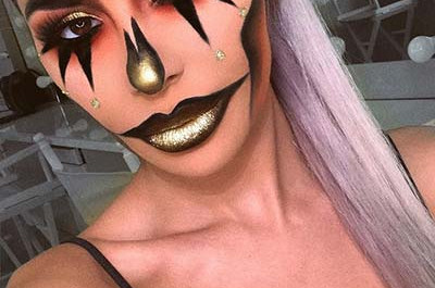 23 Modisches Clown-Makeup Ideen für Halloween 2018