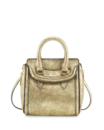 Alexander McQueen - Heldin Mini Metallic Satchel Bag