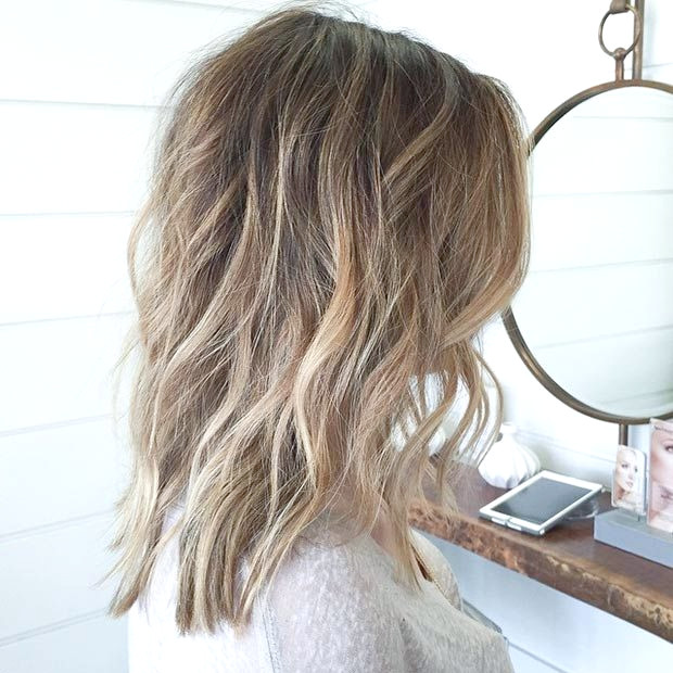 Long Bob (Lob) mit Highlights und Lowlights