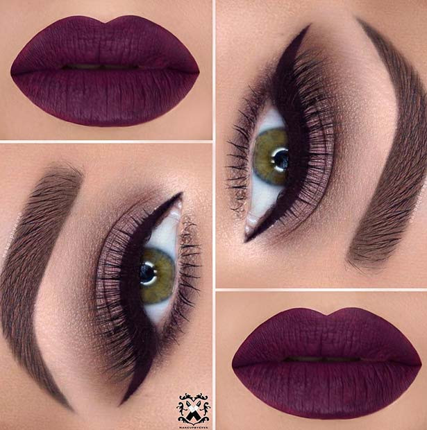 Mutige Herbst- und Winter-Make-up-Idee