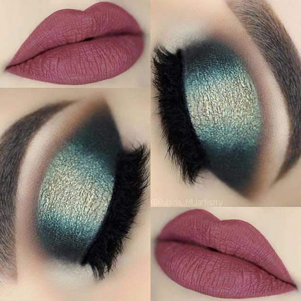 Lebendige Herbst und Winter Make-up-Idee