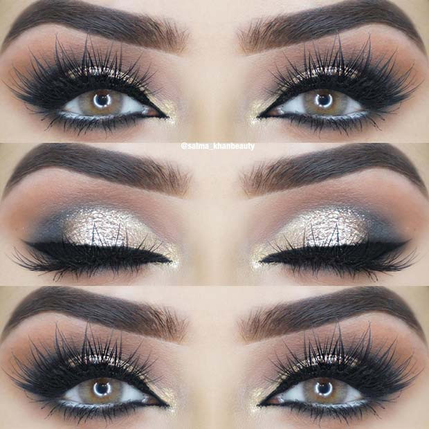 Gold Eye Makeup Idee