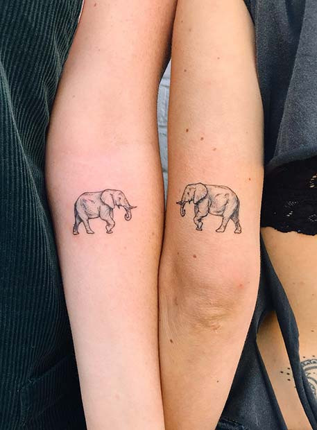 Bester Freund Elefant Tattoo Idee