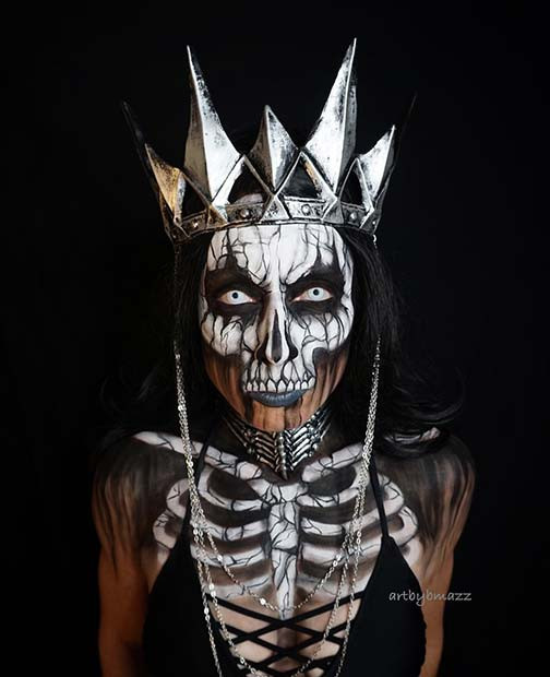 Skeleton Queen für verblüffende Halloween Make-up Looks