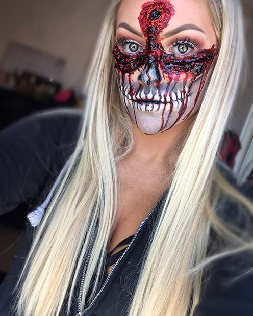 Grausames Undead-Makeup für Halloween-Make-up-Looks