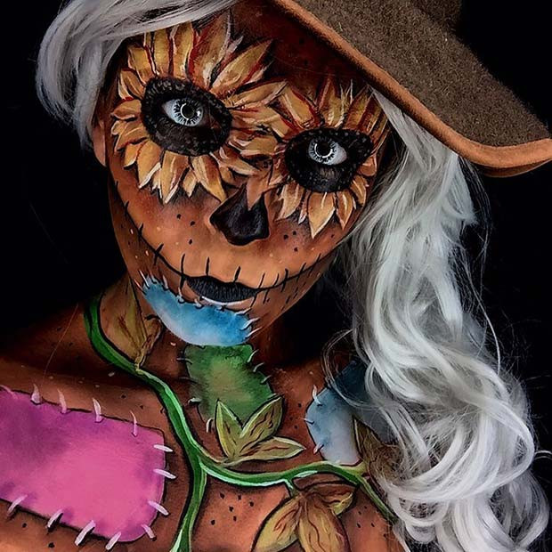 Scary Scarecrow für Halloween-Make-up Looks