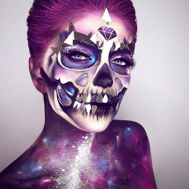 Einzigartiges Universum inspiriert Make-up für Halloween-Make-up Looks