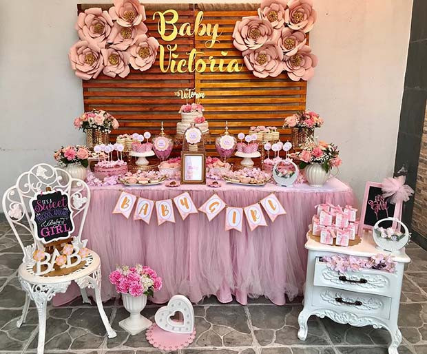 Floral Baby Shower Thema Idee
