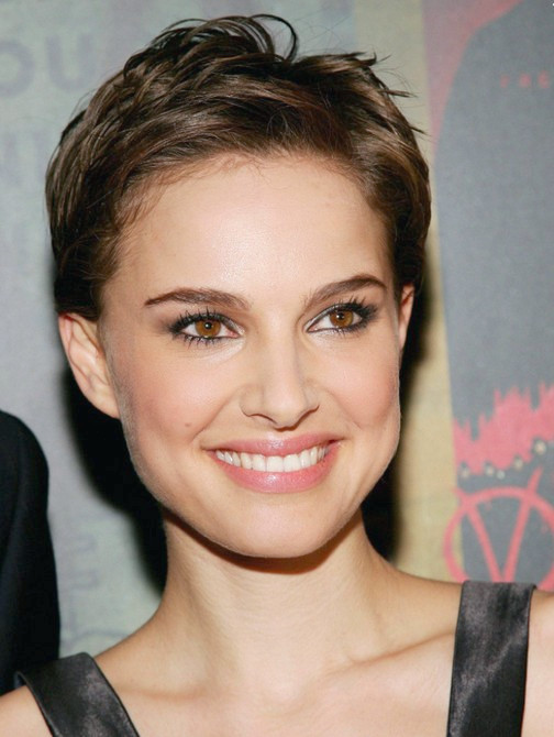 Natalie Portman Chic - Messy Short - Pixie Cut für Frauen