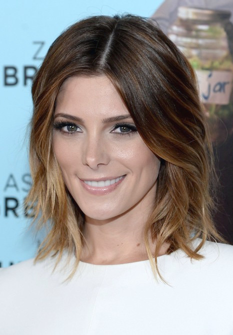 Ashley Greene Kurzer Ombre Bob Frisur für Damen