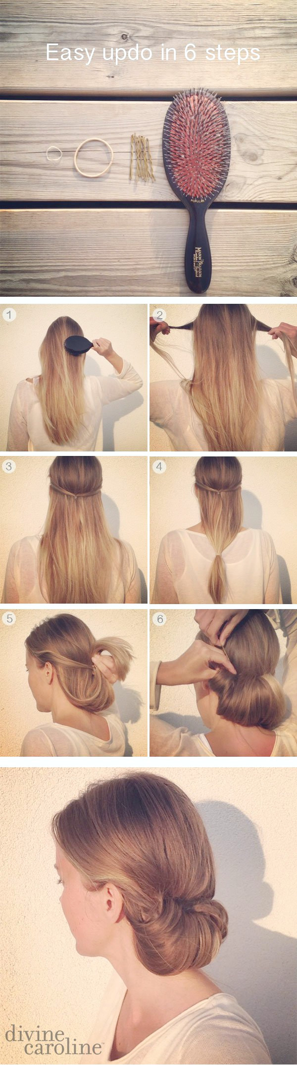 Tucked Updo Peinado Tutorial