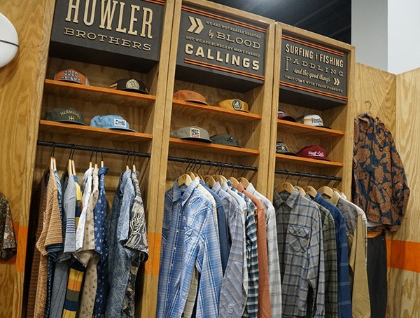 Howler Brothers Clothing Display-Einzelhandels-Wintermarkt 2018