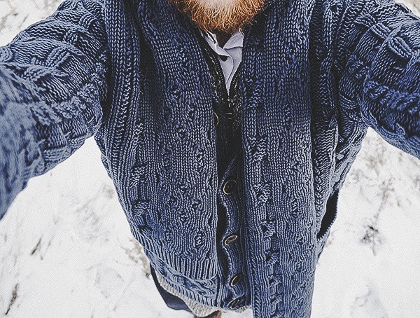 Mens Kinross Cashmere Cable Shawl Cardigan Bewertungen