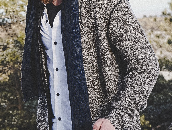 Mens Marbled Cable Full Zip Cardigan Kinross Cashmere Review