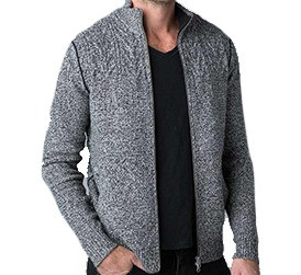 Mens Kinross Marled Cable Full Zip Cardigan Kauf