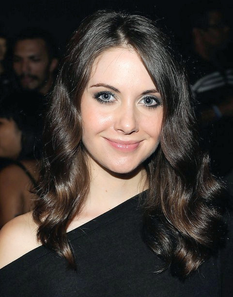 Alison Brie Long Hairstyle: Waves for Black Hair