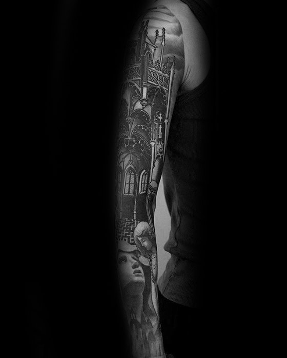 Mens Cathedral Tattoo-Ideen
