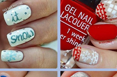 31 Netter Winter inspiriert Nail Art Designs