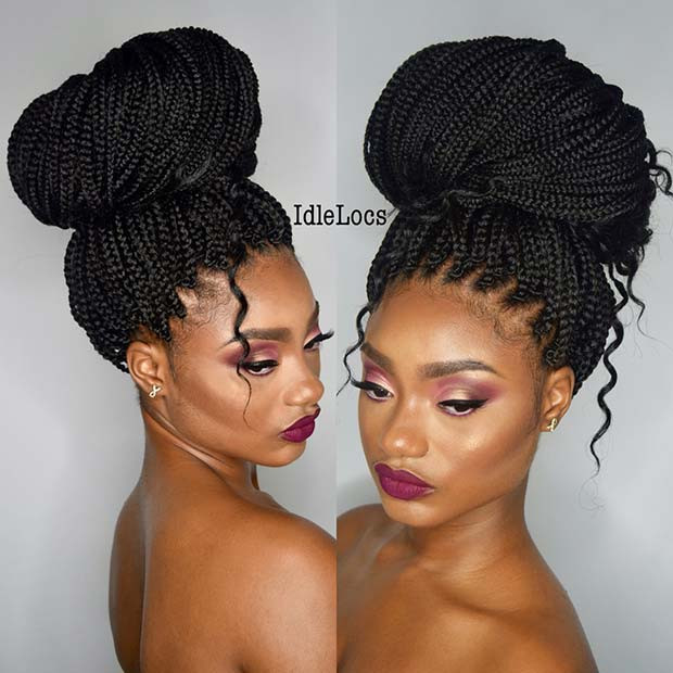 Lose Box Braids Bun