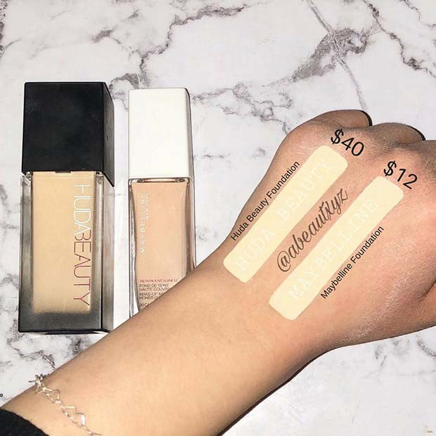 Huda Beauty Foundation Dupe