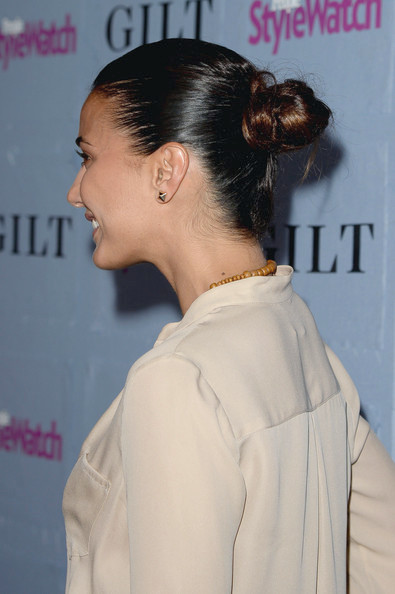 Emmanuelle Chriqui Twisted Bun