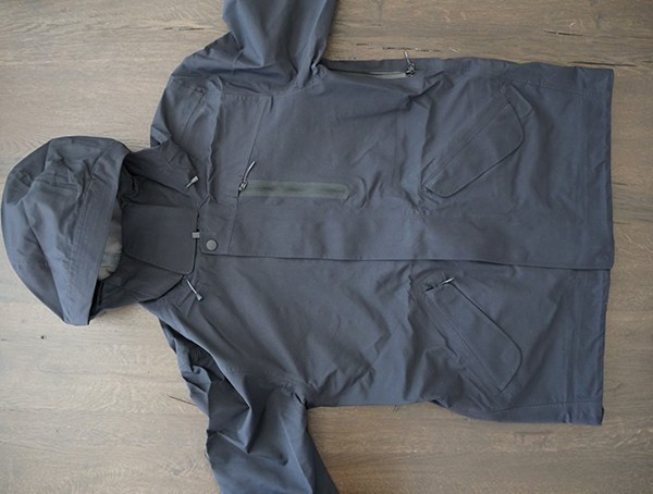 Schwarz Herren M 51 3 Layer Fishtail Jacket Front
