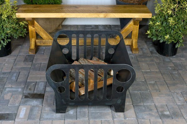 Home Hinterhof Designs Jeep Themed Metal Fire Pit