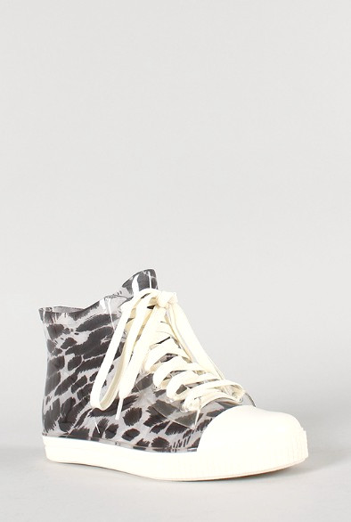 Seitenansicht des Jelly Leopard Lace Up Sneakers