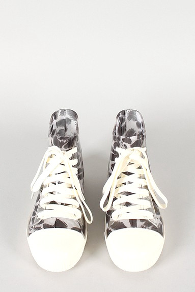 Vorderansicht des Jelly Leopard Lace Up Sneakers