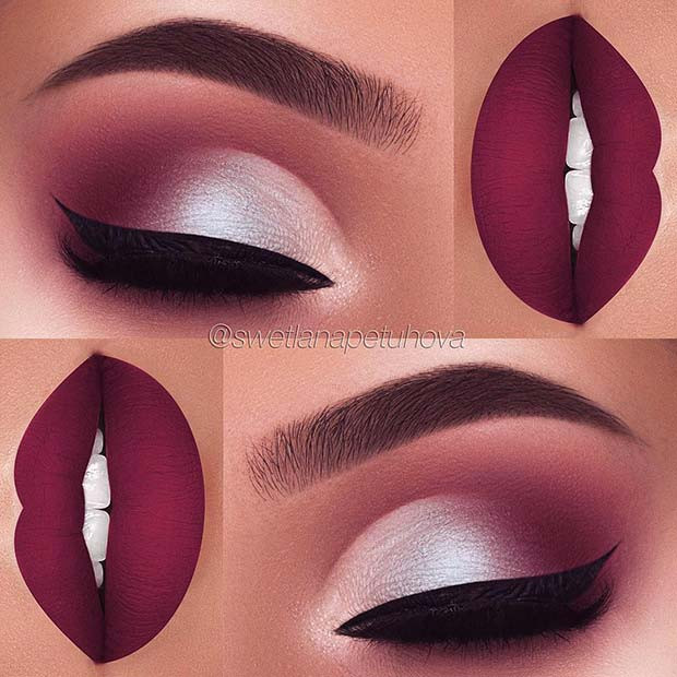 Herbst Purples für Make-up-Ideen für Thanksgiving-Dinner