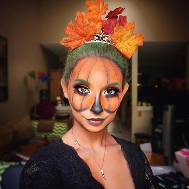Kürbis inspiriert Halloween Make-up