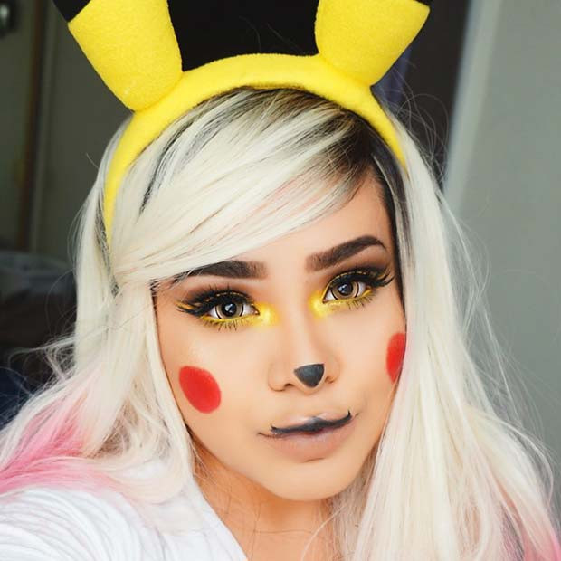Hübsches Pikachu Halloween Makeup