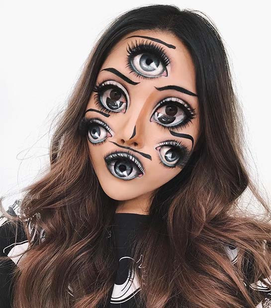 Illusion Eye Halloween Makeup