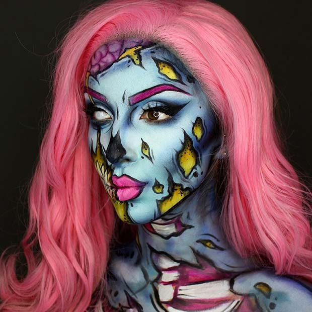 Pop-Art-Zombie-Halloween-Make-up
