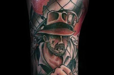 60 Indiana Jones Tattoo-Ideen für Männer - Dr Henry Walton Designs