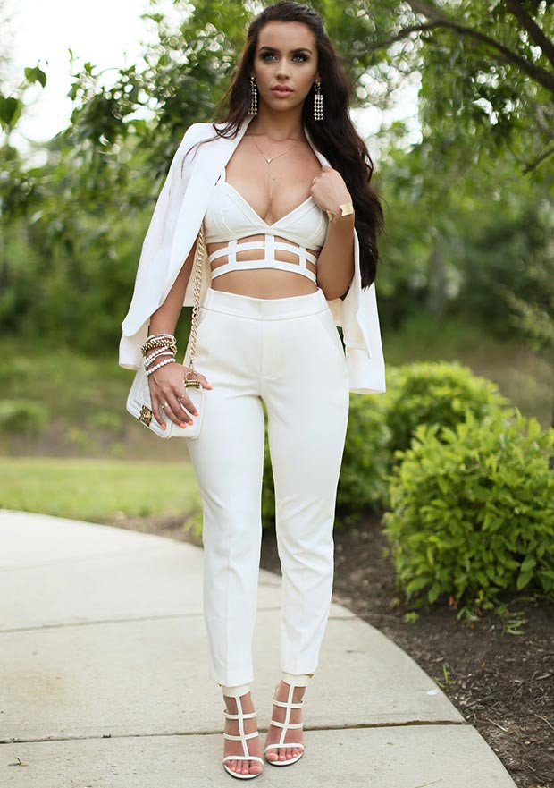 Sommer All White Party Outfit