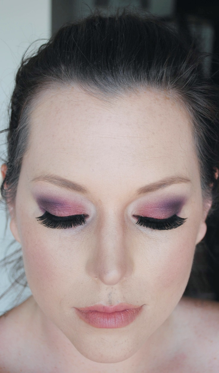 Berry Ombre Augen Make-up