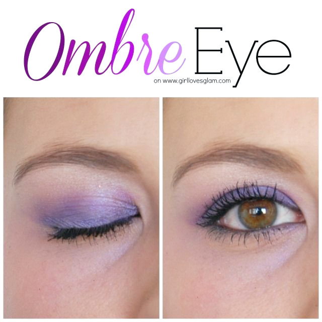 Lila Ombre Augen Make-up