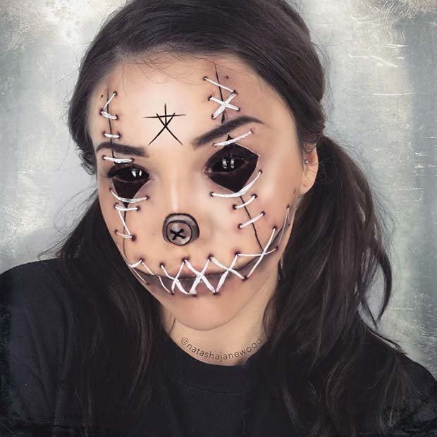 Blair Witch Voodoo Doll Makeup