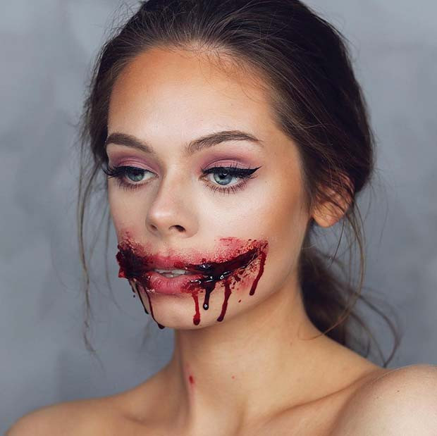 Grausame Halloween-Make-up-Idee