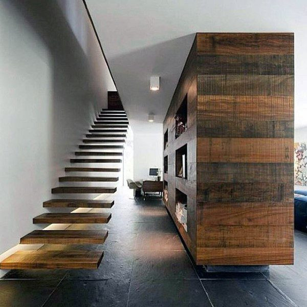 Floating Wood Staircase Ideen