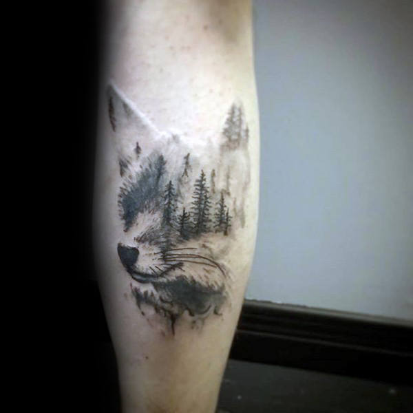 Fox Forest Male Tattoo-Inspiration