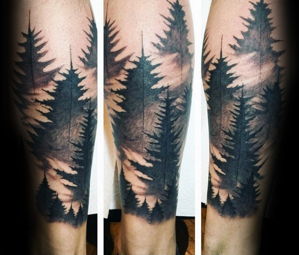 Aquarell-Jungs Waldbein Sleeve Tattoo Designs