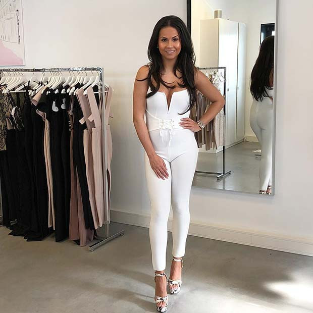 All White Party Jumpsuit Idee