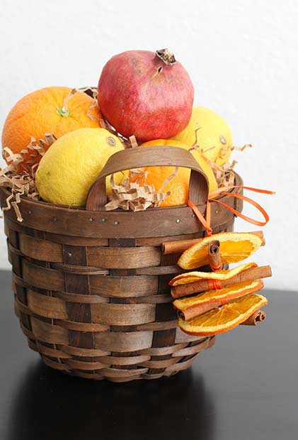 DIY Thanksgiving Basket Mittelstück
