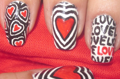 15 Adorable Nails Art zum Valentinstag